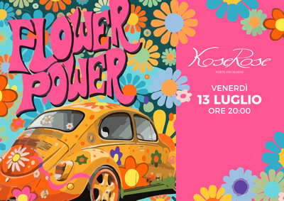 It's Flower Party time da Kose Rose a Forte Dei Marmi